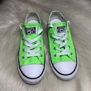 Converse Neon Green Youth Sneakers Low